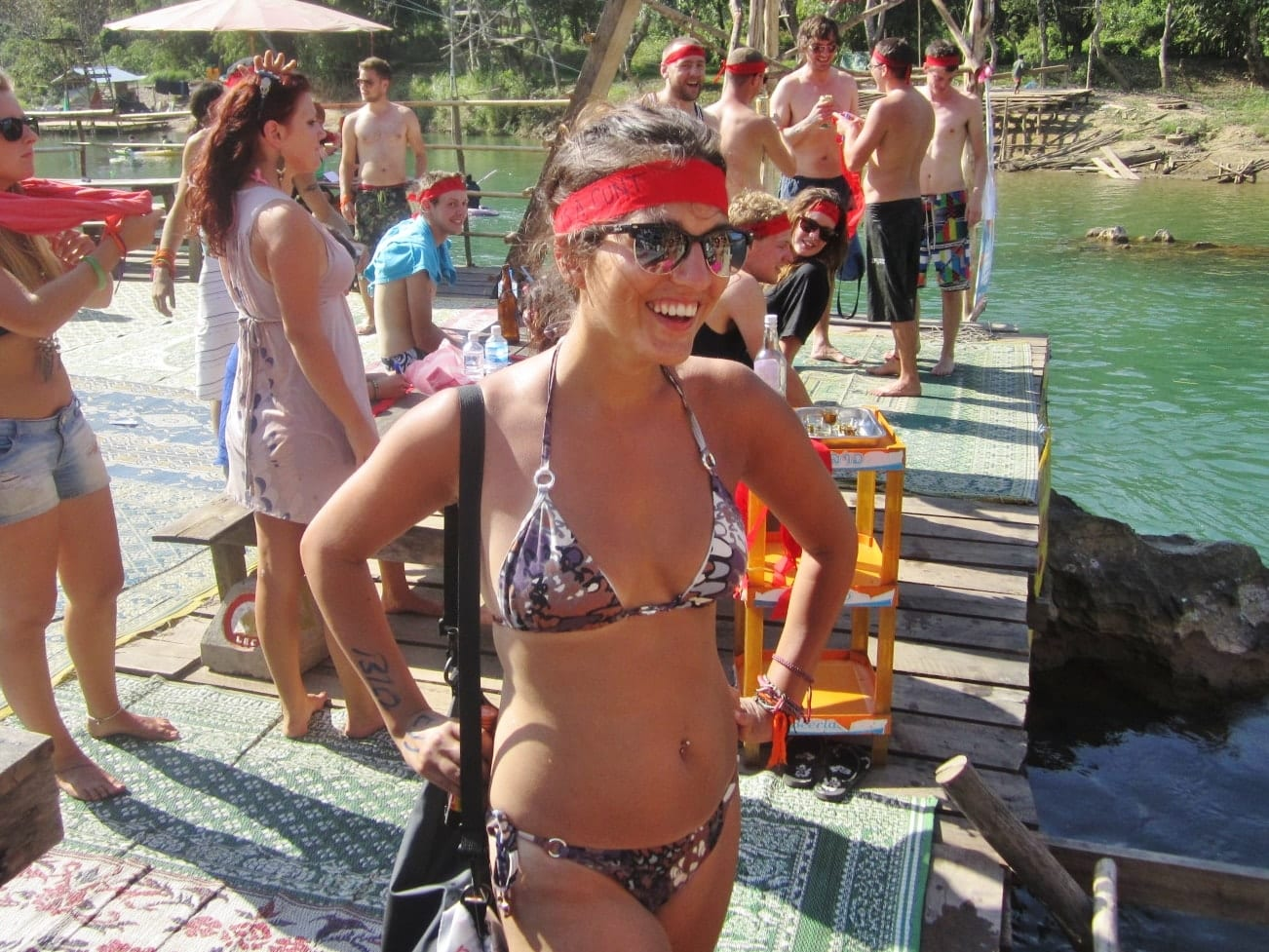 Kate Tubing in Vang Vieng