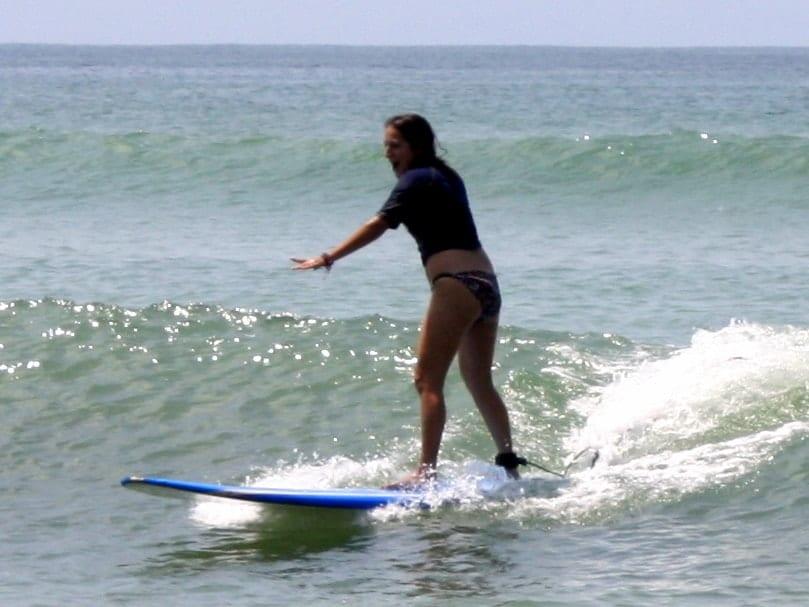 Kate Surfing in Punta de Mita