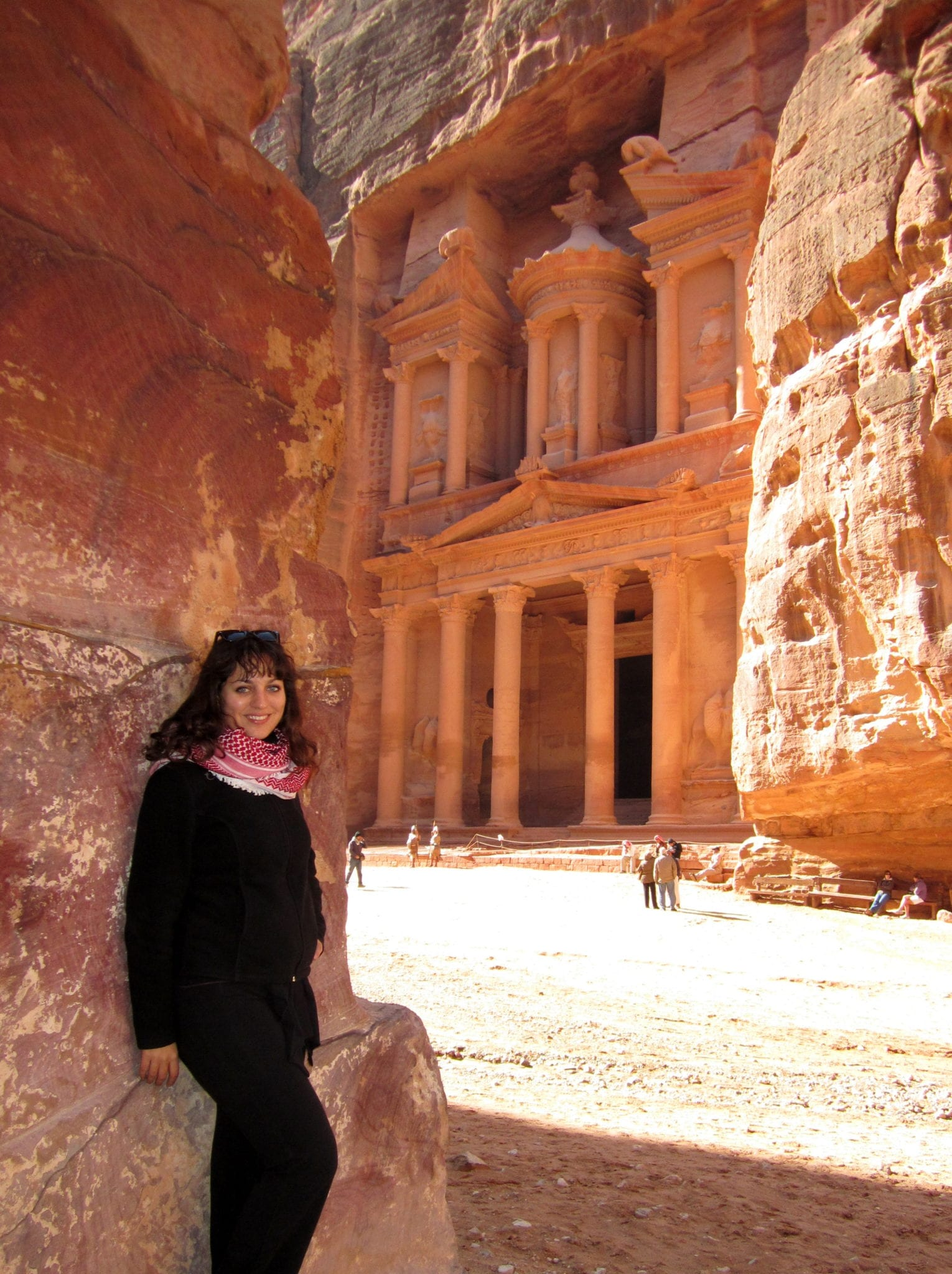 Kate at Petra