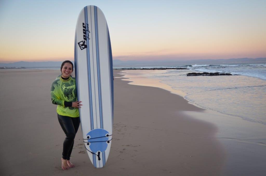 Kate Surfing in JBay