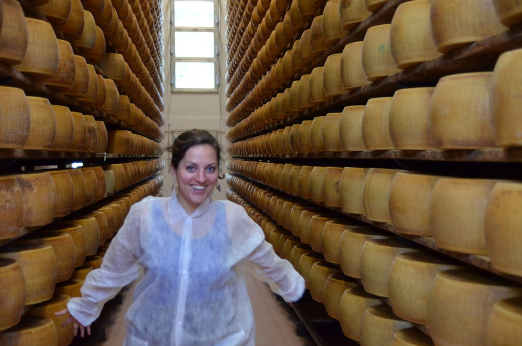 Kate Running Through a Parmigiano Reggiano Factory