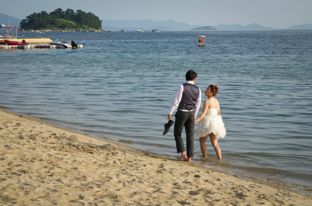 Walking on Yeosu Beach