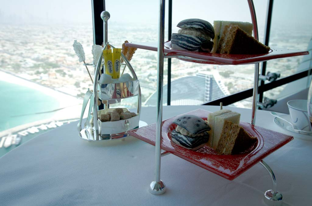 High tea in the Skyview Bar