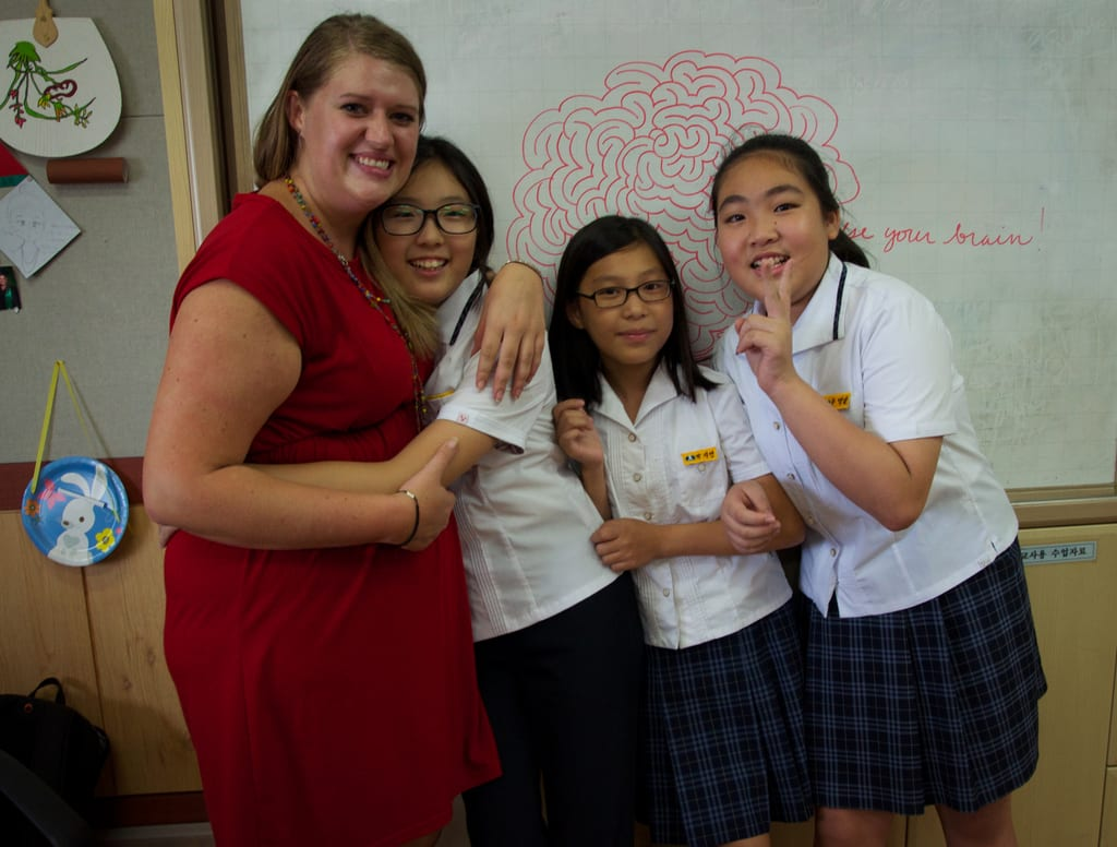 Heather and her students