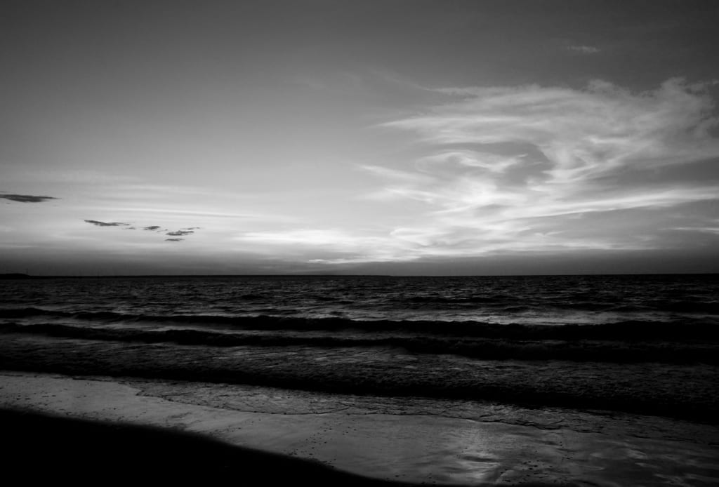 Mindil Beach Sunset Black and White