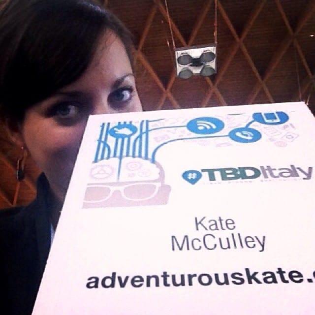 Kate at TBD Italy