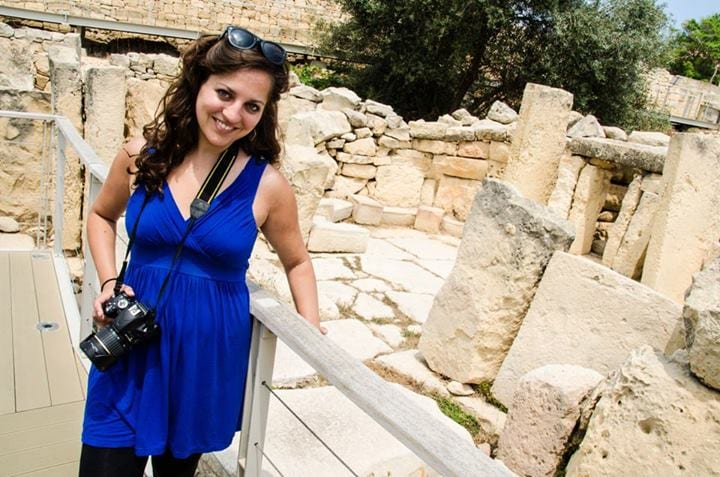 Kate at the Tarxien Temples