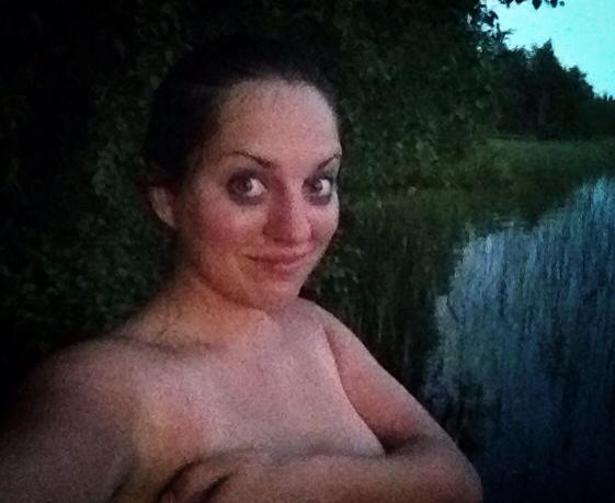 Kate in the Finnish Sauna