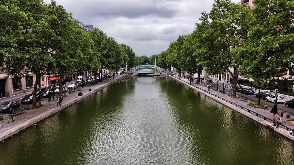 The Canal Saint-Martin, Paris