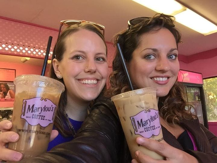 Beth and Kate at Marylou's