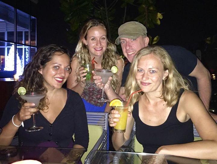 Kate, Becki, Travis and Dani in Sri Lanka