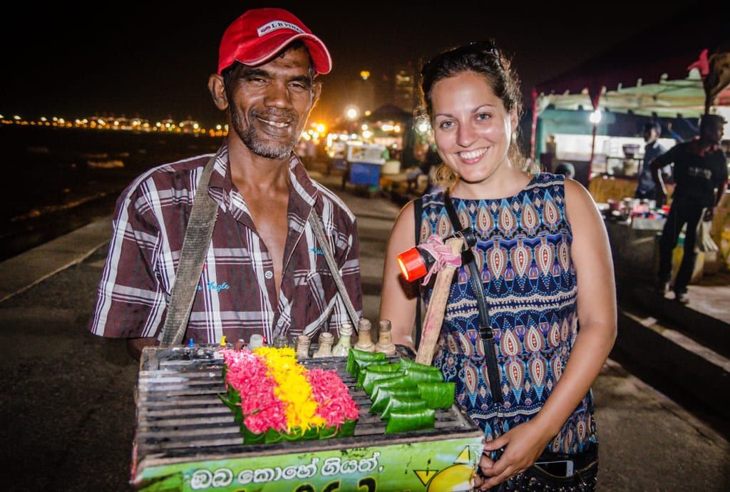 Kate and a Seller in Colombo