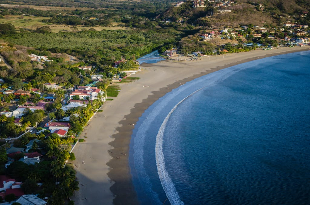 San Juan Del Sur beach at sunset