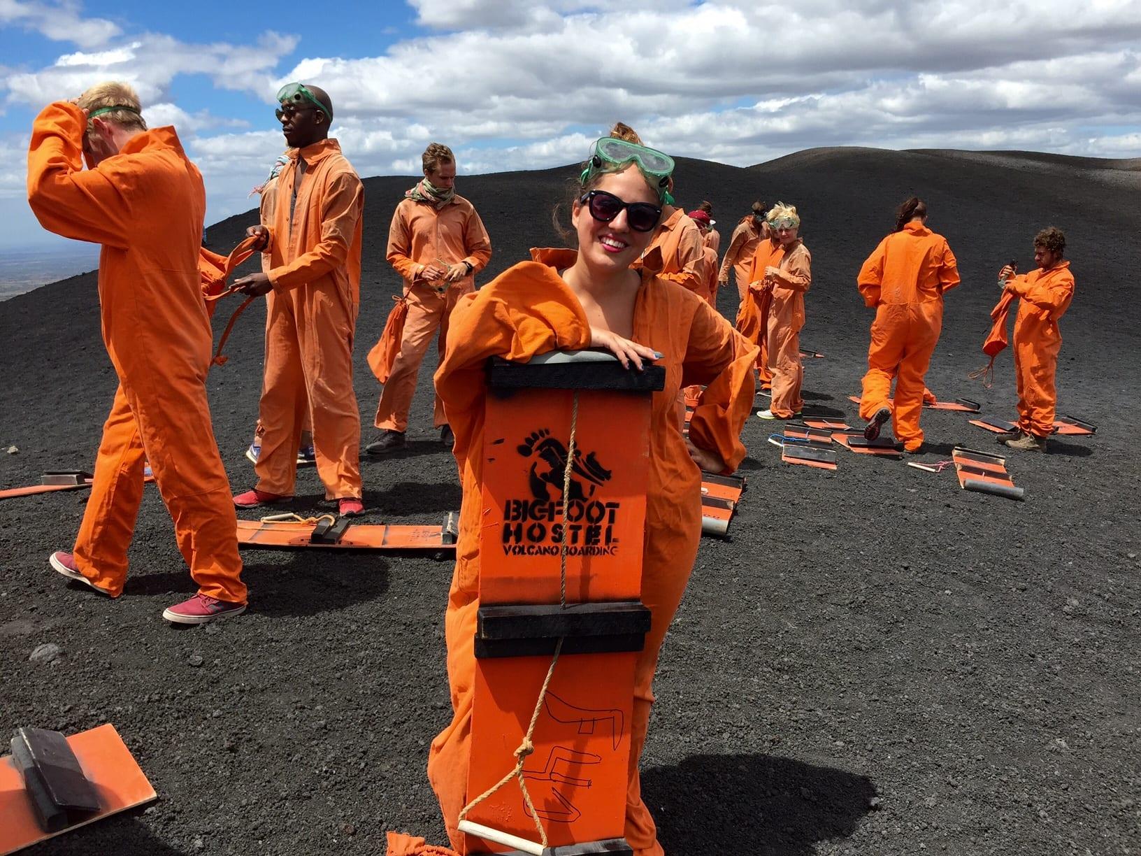 Kate Volcano Boarding