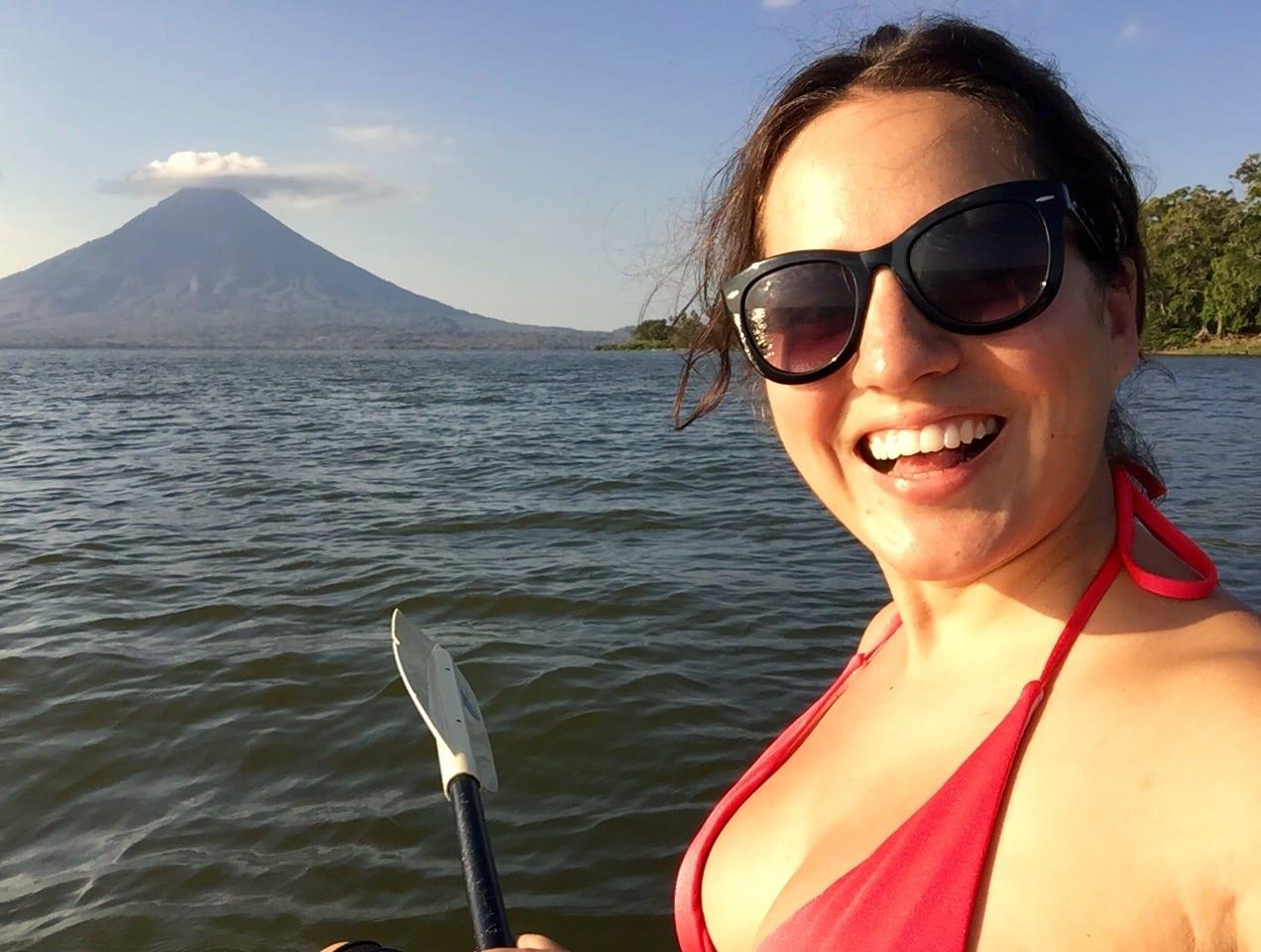 Kate in Ometepe