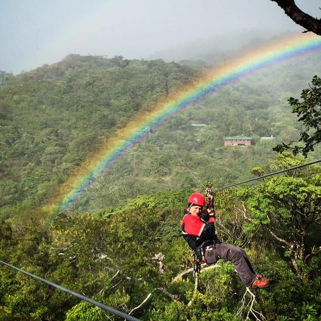 Ziplining in Monteverde