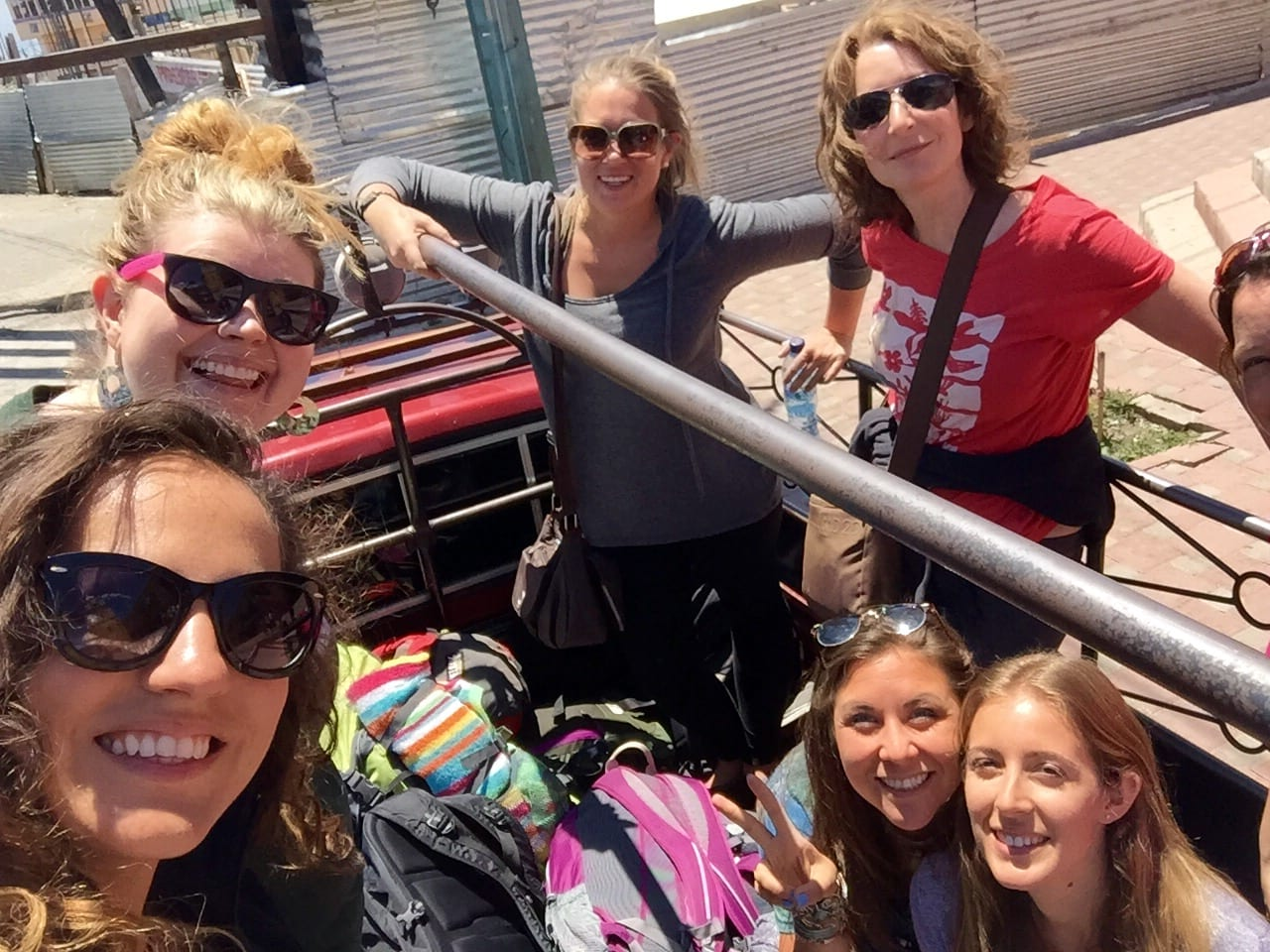 Girls in a Pickup Truck