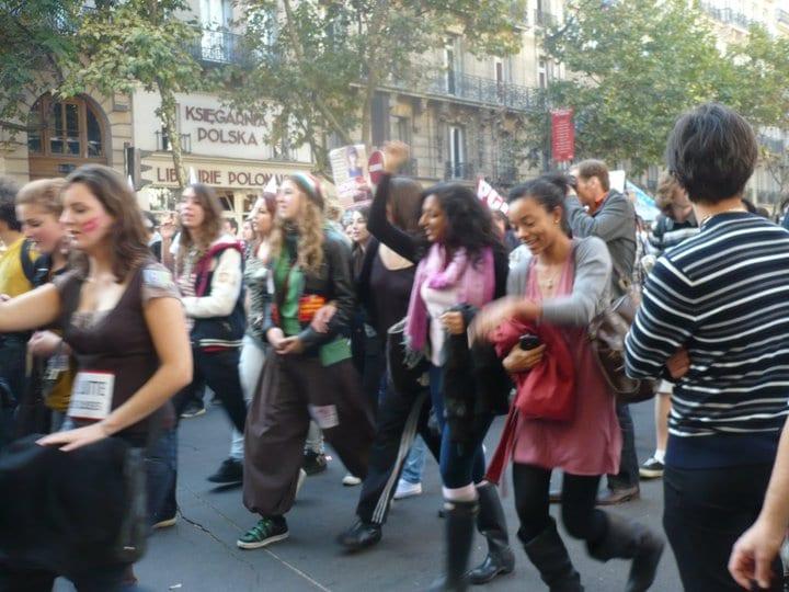 Maya Protesting in France