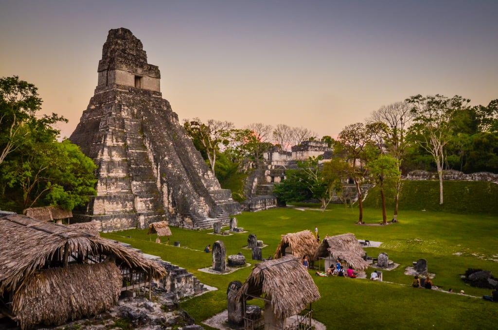 Tikal at Sunset