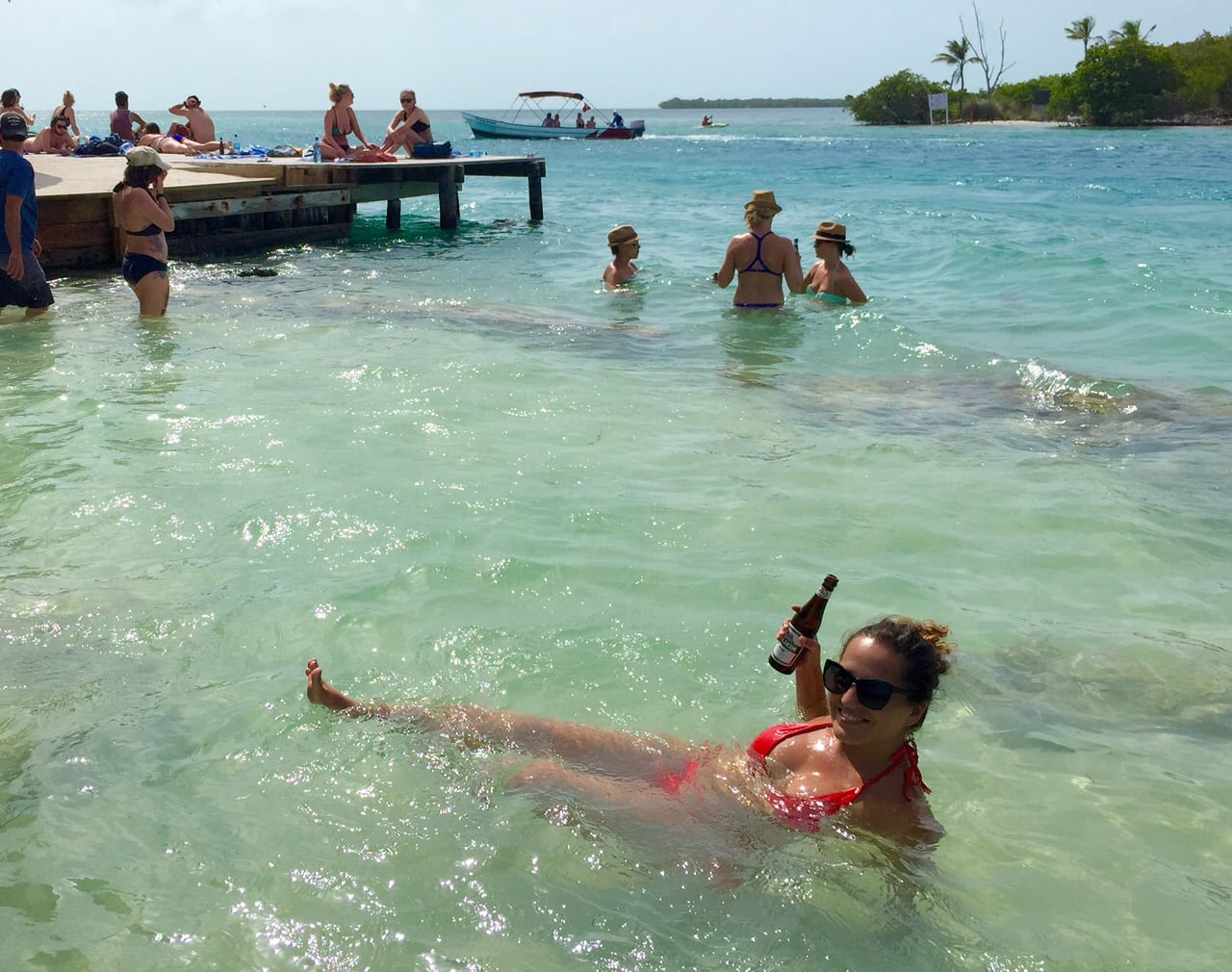 Kate in Caye Caulker