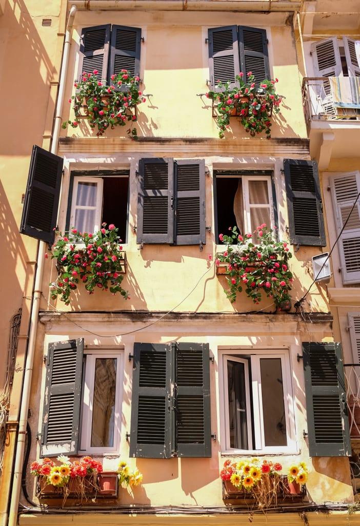 Shutters in Corfu, Greece