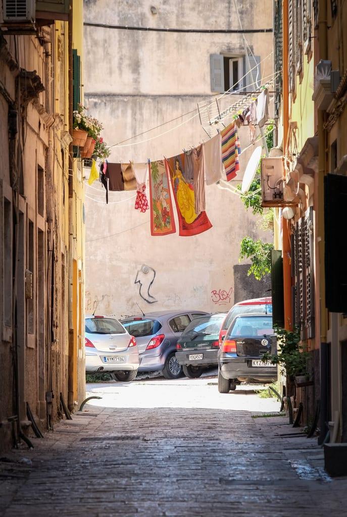 Laundry in Corfu, Greece