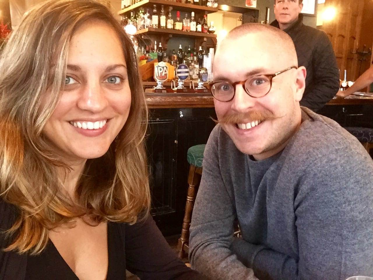 Kate and Chris in London