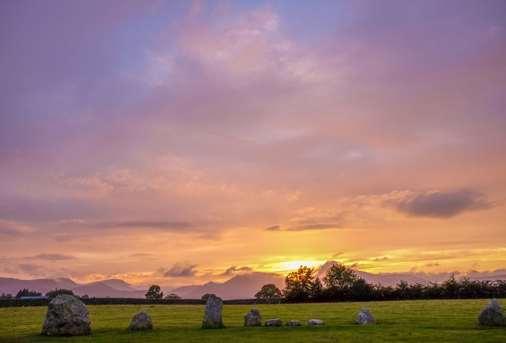 Castlerigg Lake District Sunset