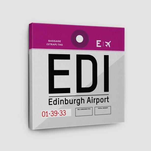 Airportag Edinburgh Canvas