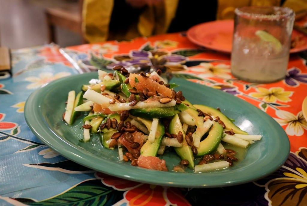 Jicama Salad at Mijita