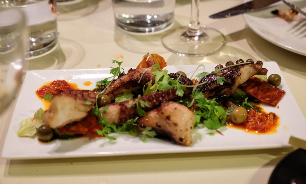 Octopus and Chorizo at Shakewell