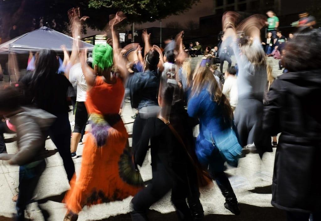 Dancing at Oakland Museum of California