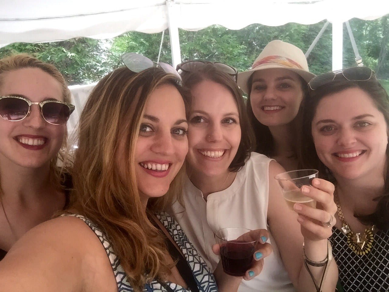 Sarah, Kate, Beth, Amy and Colleen in Long Island
