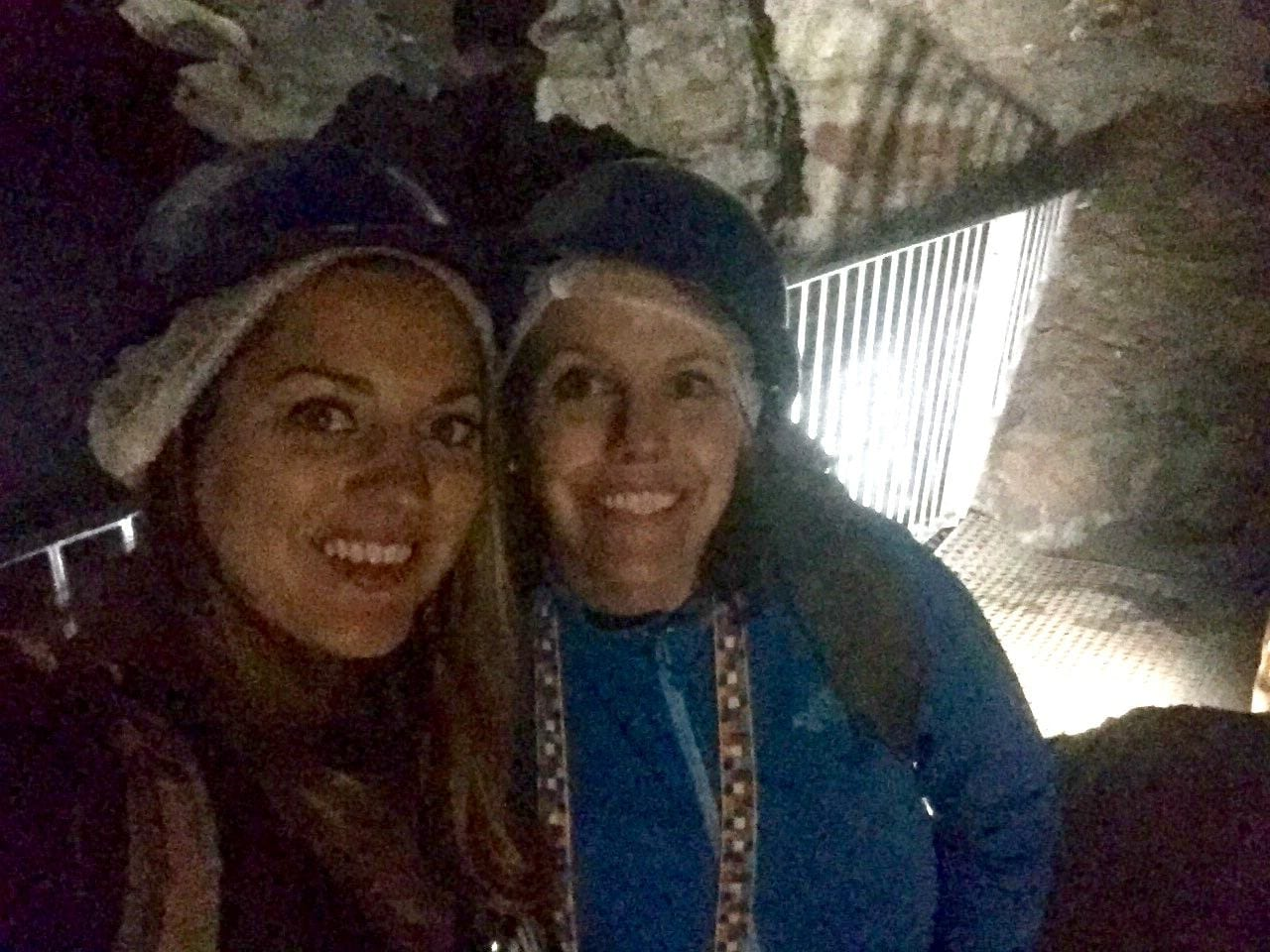 Kate and Beth at the Sterkfontein Caves