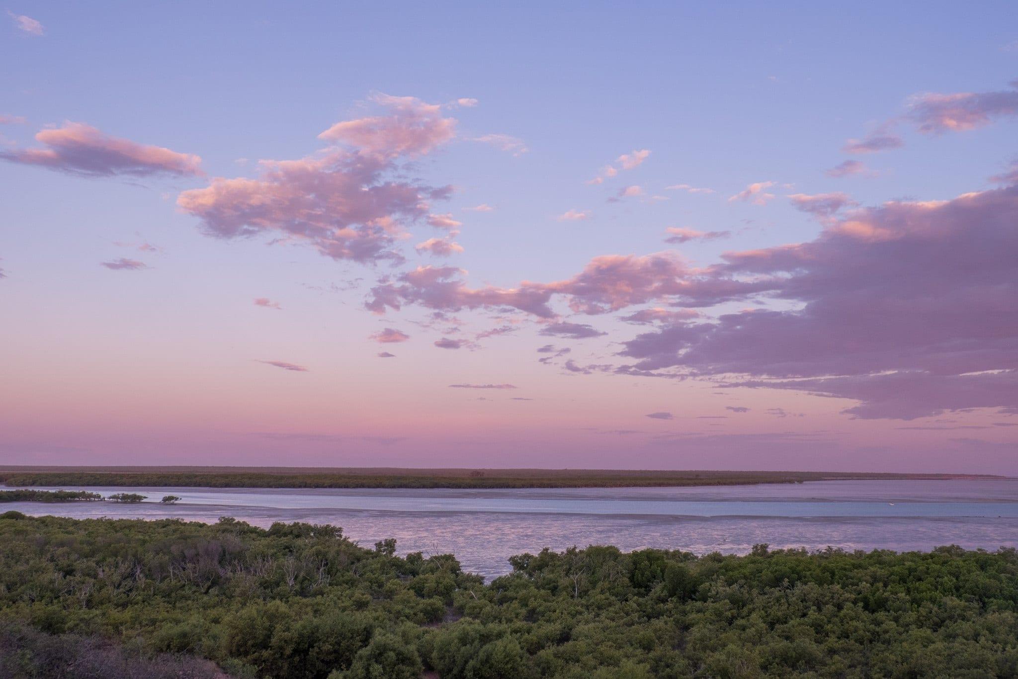 Mangrove Hotel Broome WA Sunset Roebuck Bay