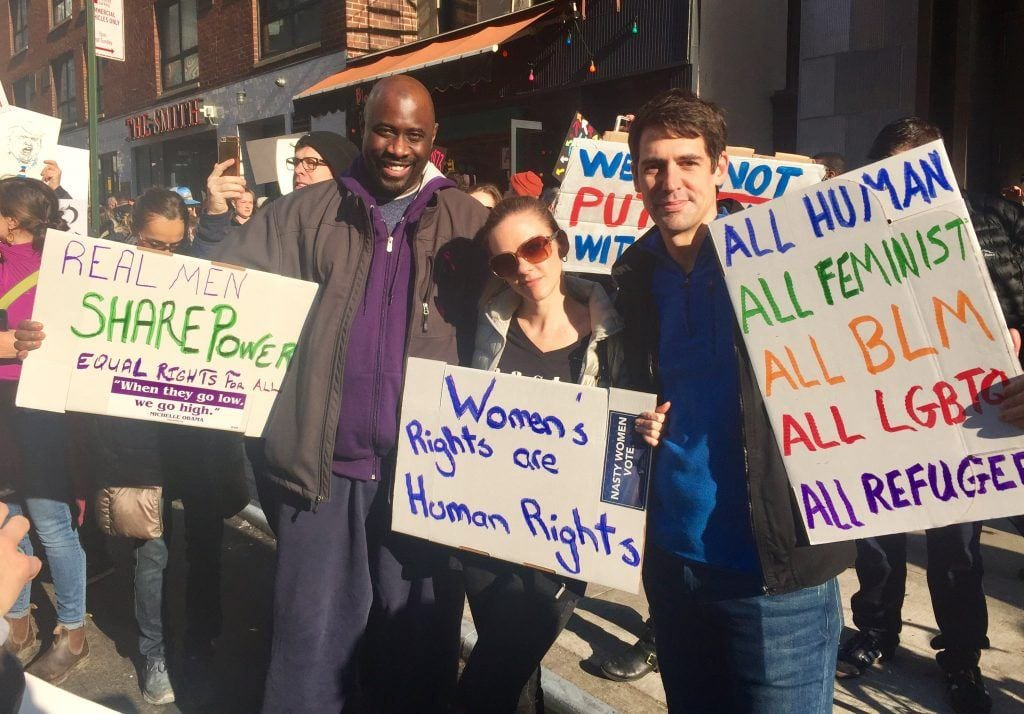 Protestors at the Women's March in NYC