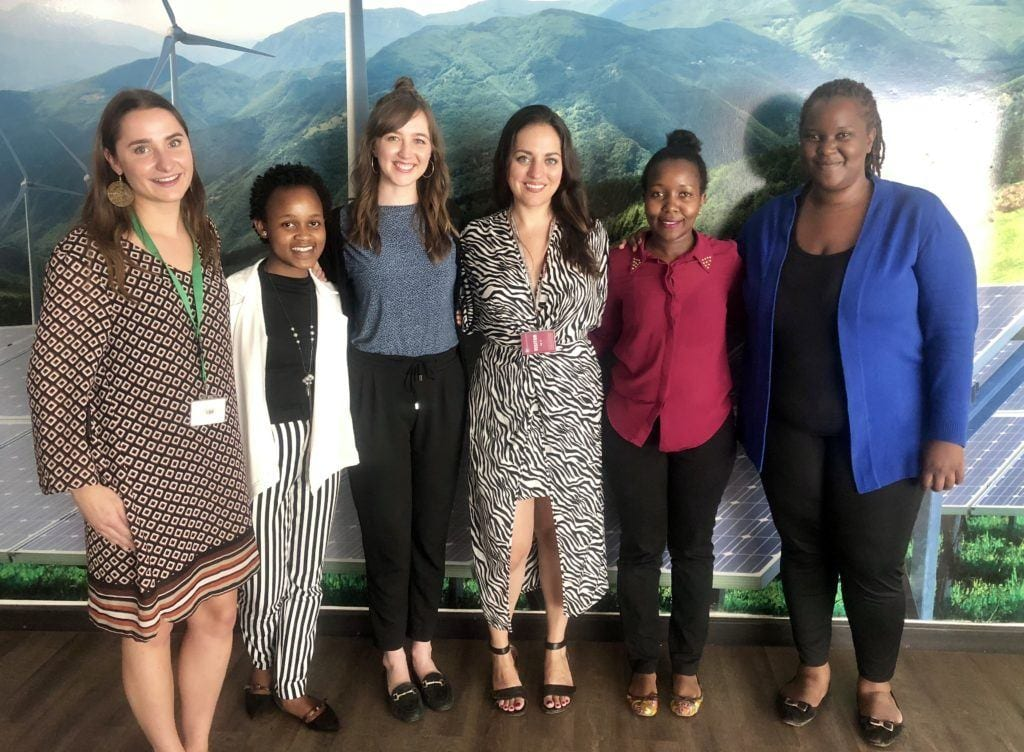 Kate, Alise and Climate Activists in Nairobi Kenya